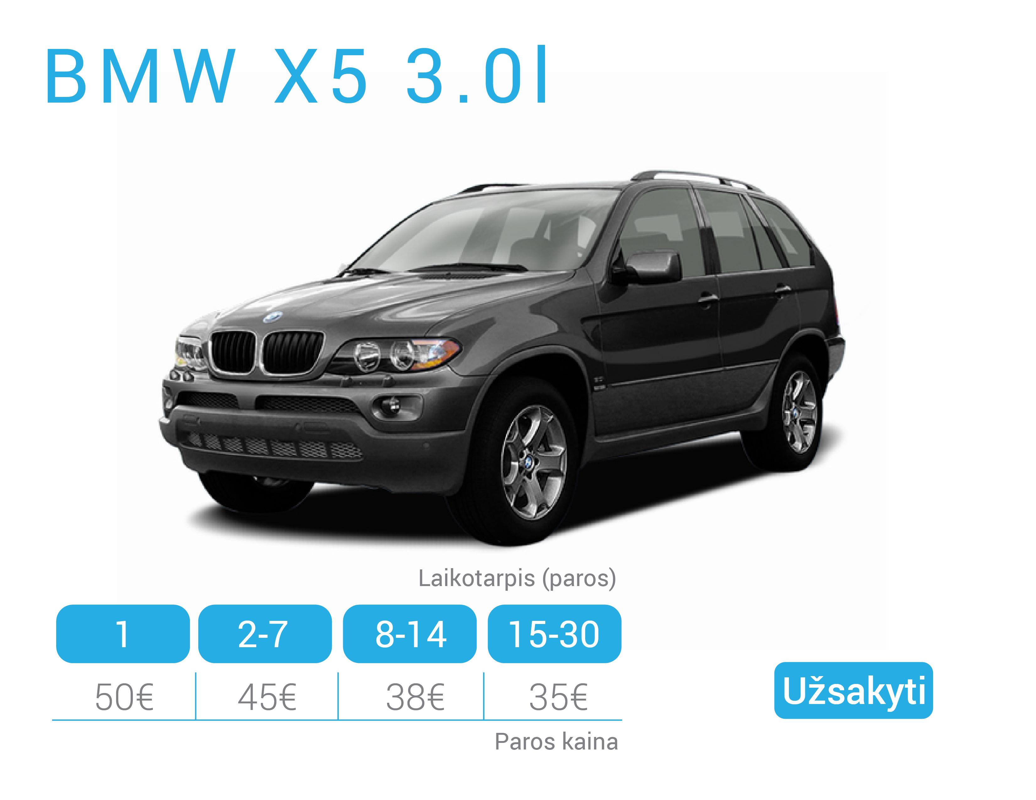 BMW X5 nuoma Alytuje