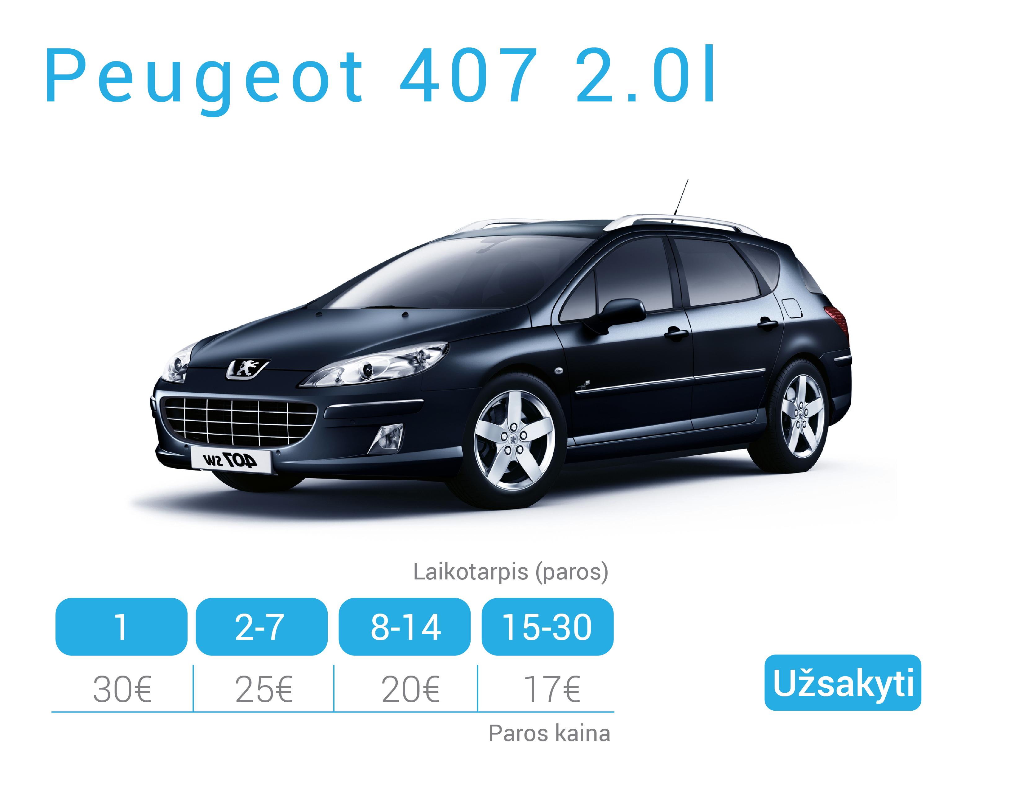 Peugeot 407 nuoma Alytuje