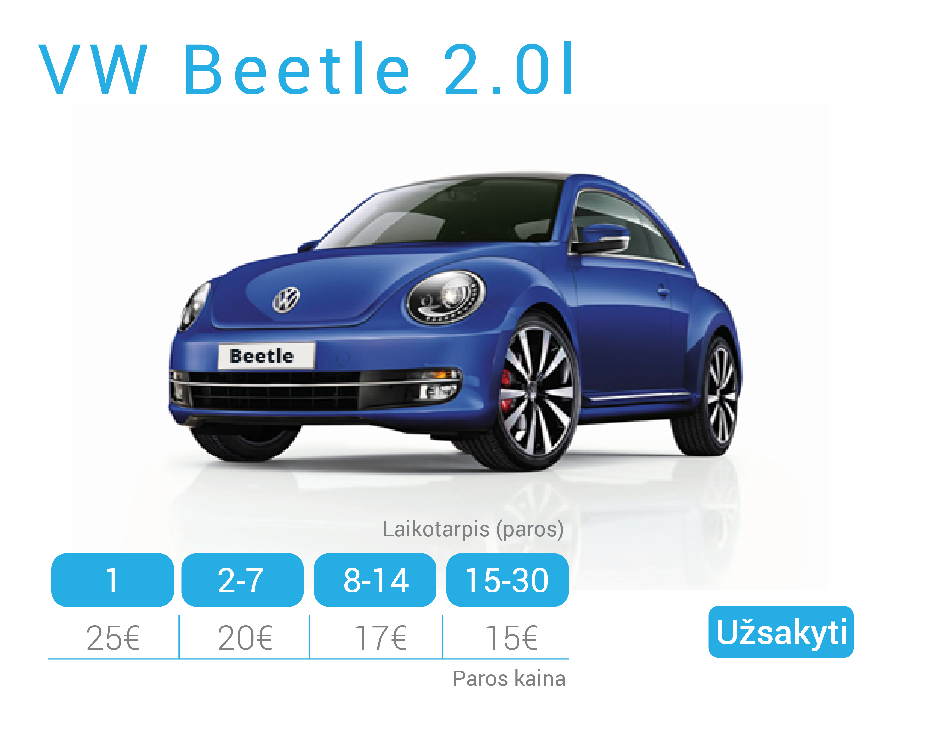 VW Beetle nuoma Alytuje